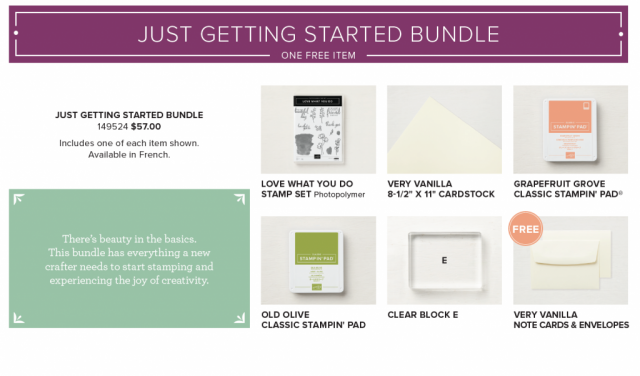 Just Getting Started Bundle Content